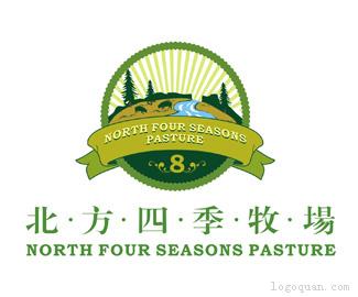 北方四季牧场logo设计