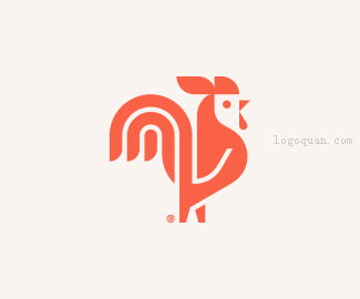 公鸡卡通图标设计